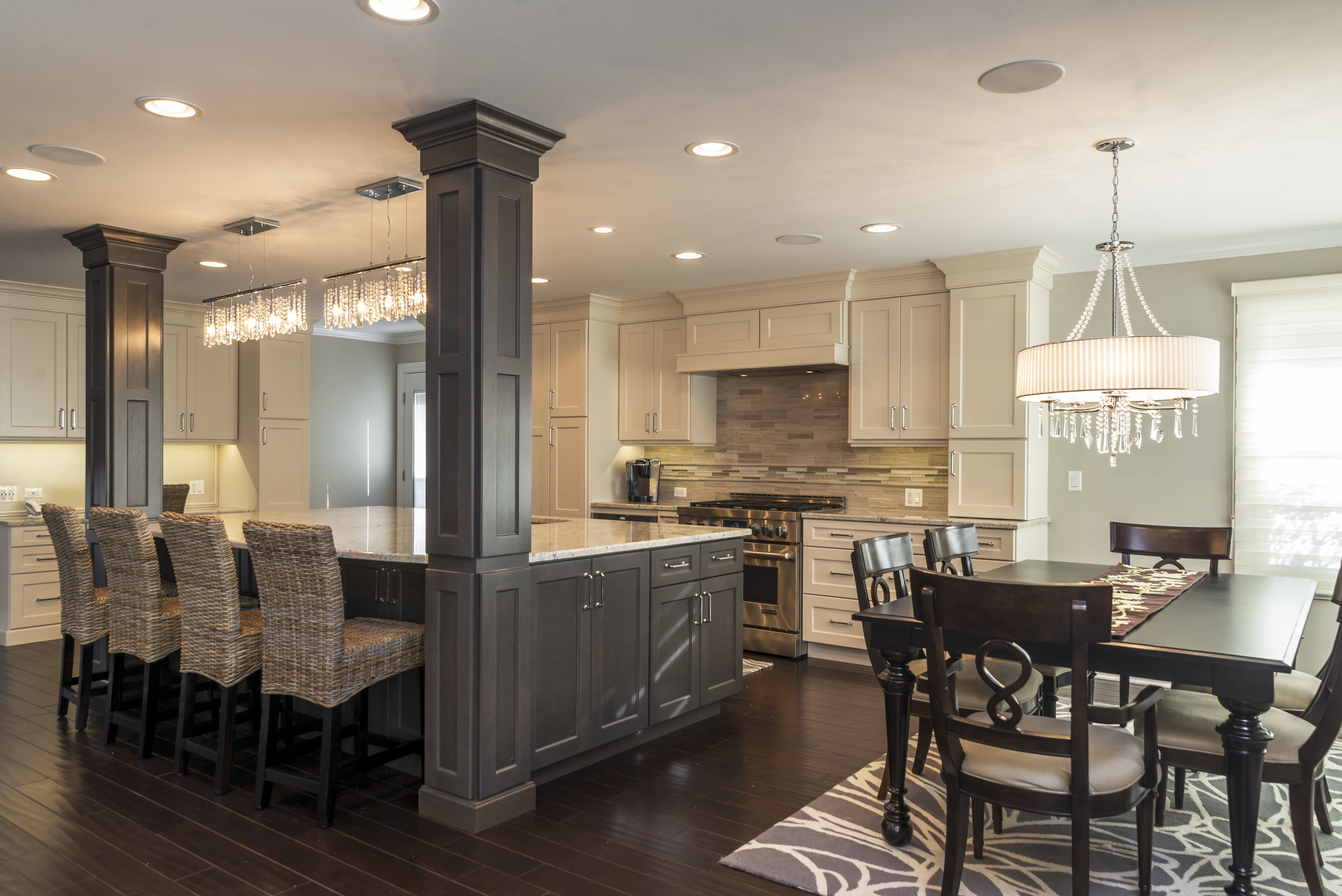 New year sale bradford and kent custom remodeling for Galley kitchens kitchen family room design