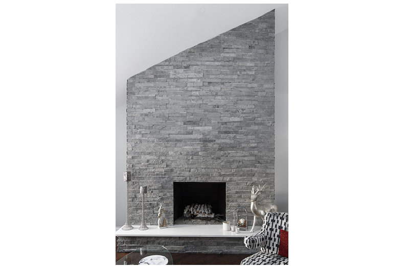 Fireplace Fills Kitchen With Warmth