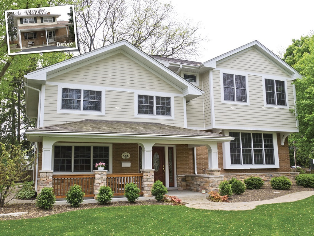 A Second Story Addition Improved The Curb Appeal Of This Wheaton Home