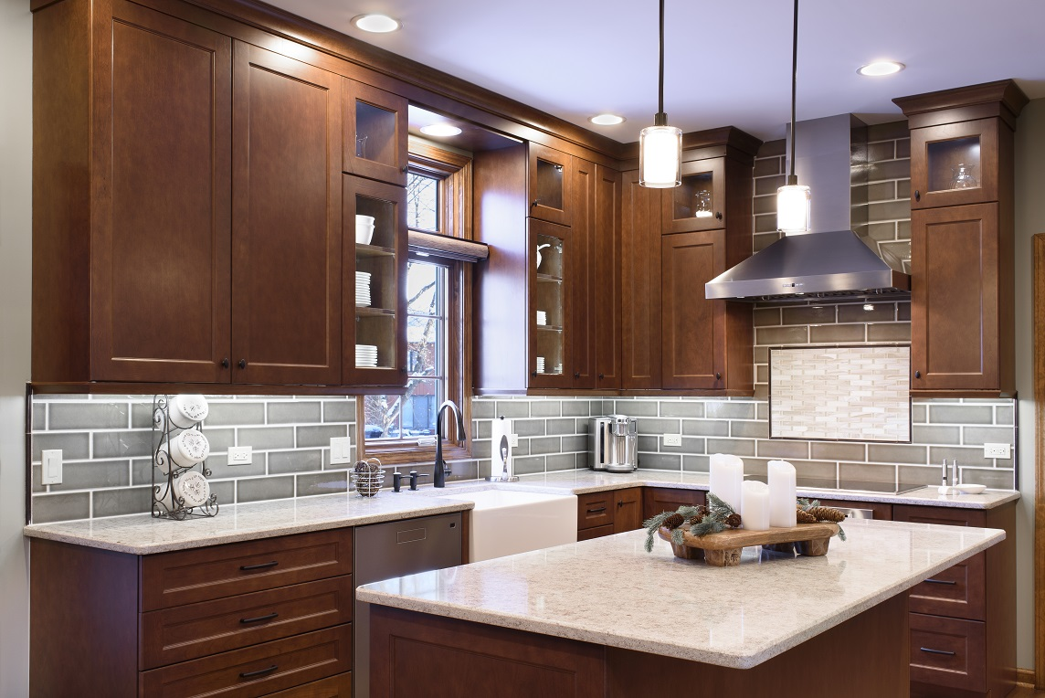 Cherry Cabinets Cap Off This Lisle Kitchen Remodel