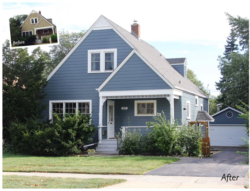 Blue James Hardie Siding Brightened This Home