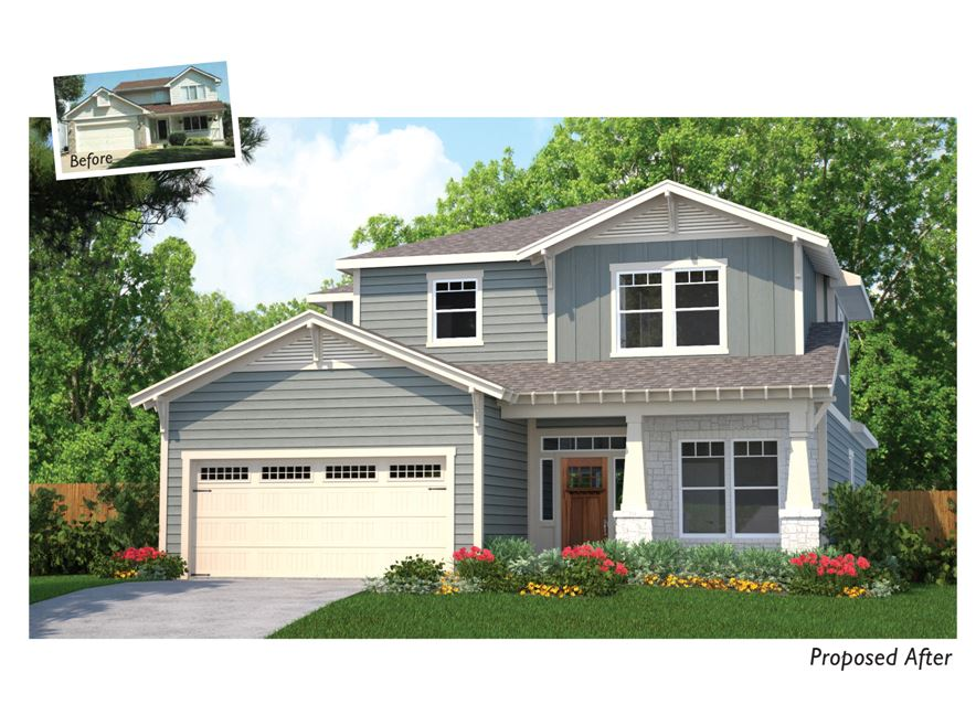 Proposed Exterior Makeover For Downers Grove Two Story