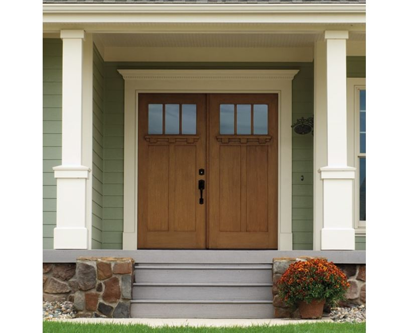 Fiberglass Craftsman Entry Door
