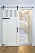 Barn Door Adds Stunning Entrance To Naperville Master Bath